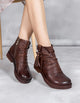 Soft Bottom Women Retro Handmade Leather Boots
