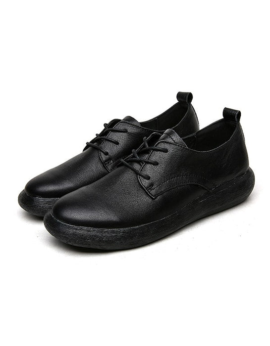 Spring Autumn Retro Leather Walking Shoes