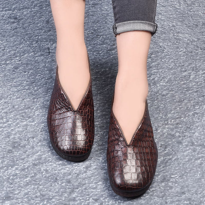 Spring Autumn Soft Bottom Handmade Women's Flats