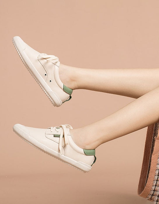 Spring Beige Casual Sneakers For Women
