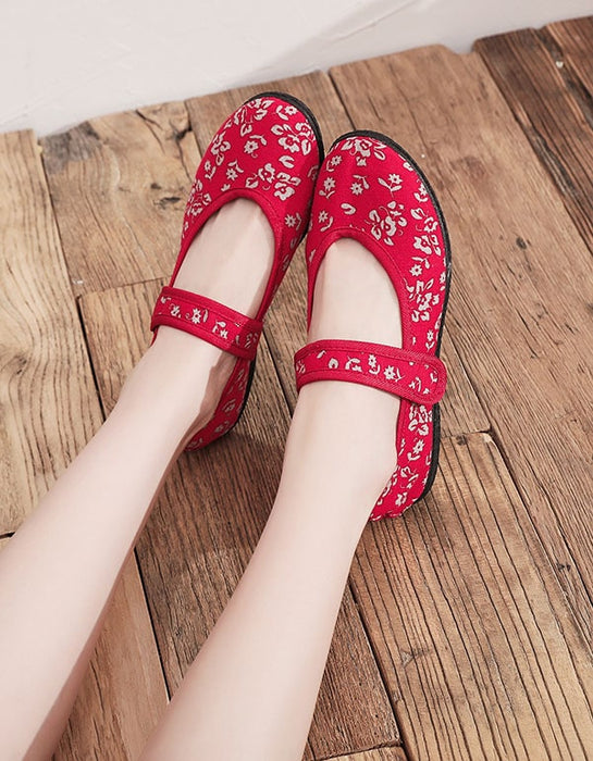 Soft-soled Ethnic Style Embroidery Shoes