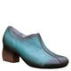 Spring Autumn Chunky Peacock Blue Women Vintage Shoes |Gift Shoes