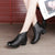 Spring Autumn Leather Thick Soft Bottom Ankle Boots Women