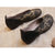 Spring Embossed Leather Handmade Soft Comfortable Flat Shoes