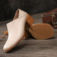Spring Summer Thick Heel Leather Wild Fashion Women's Shoes