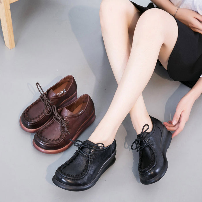 Spring Thick Sole Retro Women's Shoes