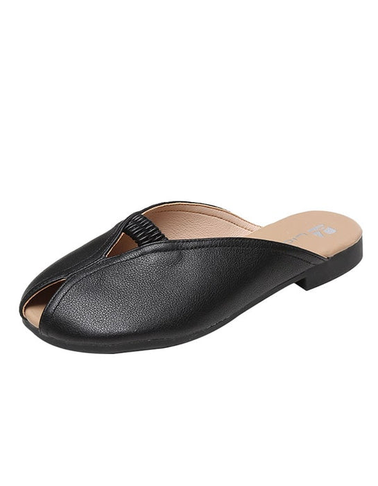 Summer Leather Slippers Big Size 41-43