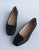 Summer Square Head Comfortable Leather Flats