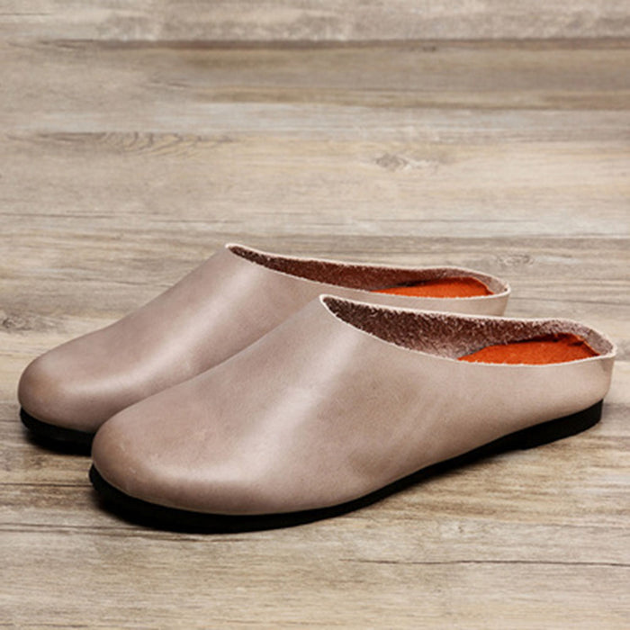 Summer Leather Comfortable Casual Women's Slippers 35-41