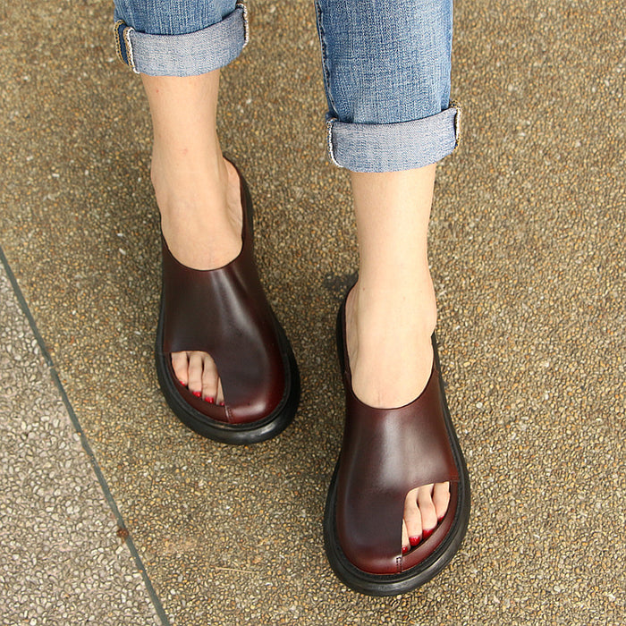 Summer Comfortable Retro Open-toe Slippers