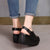 Summer Platform Hollow Handmade Velcro Sandals