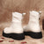 Thick Bottom Fashion Martin Boots White
