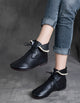 Vintage Handmade Lace Up Ankle Boots