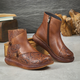 Vintage Ethnic Style Thick-Soled Autumn Embossed Boots |Gift Shoes