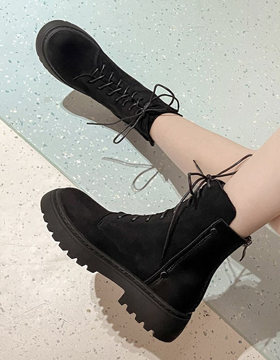 Winter Large Size Women's Suede Ankle Boots