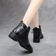 Winter Fashion Layer Thick Leather Women's Short Boots | Gift Shoes