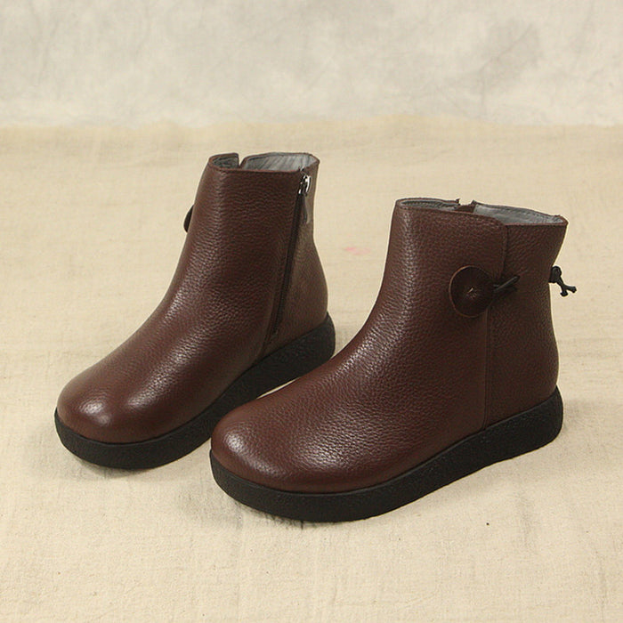 Winter Retro Comfortable Velvet Boots | Gift Shoes