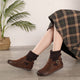 Winter Retro Leather Short Boots | Gift Shoes