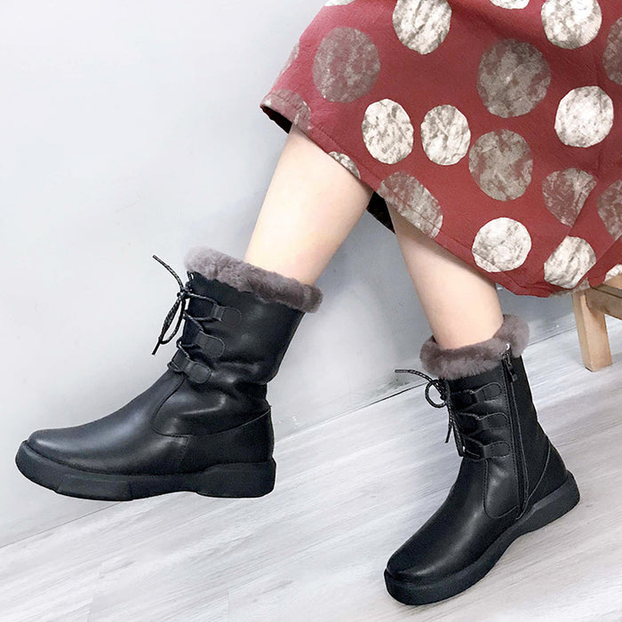 Winter Retro Soft Comfortable Wool Boots | Gift Shoes