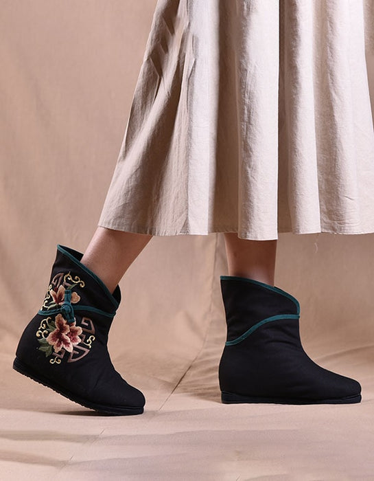 National Style Embroidered Handmade Winter Boots
