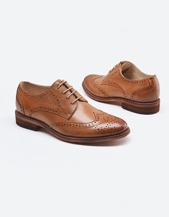 100% Handmade Leather British Oxford Shoes