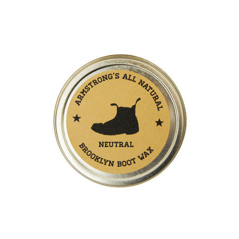 Armstrong's All Natural Boot Wax Made in America