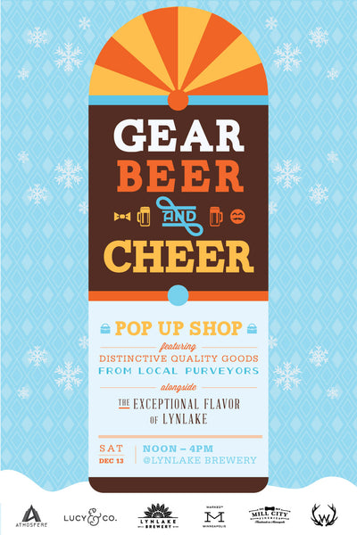 Gear, Beer & Cheer. Shop Local, Shop Made in USA. Lynlake Brewery.