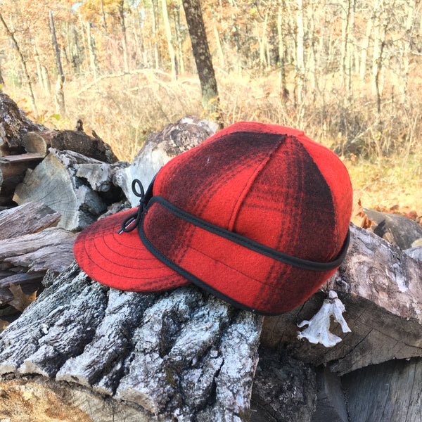 Stormy Kromer Hunting Caps in Red/Black Plaid