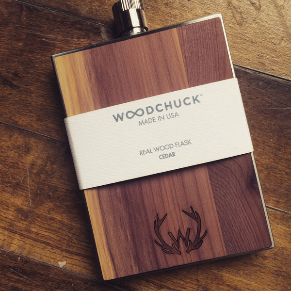 William Rogue Wood and Steel Flask Made in America