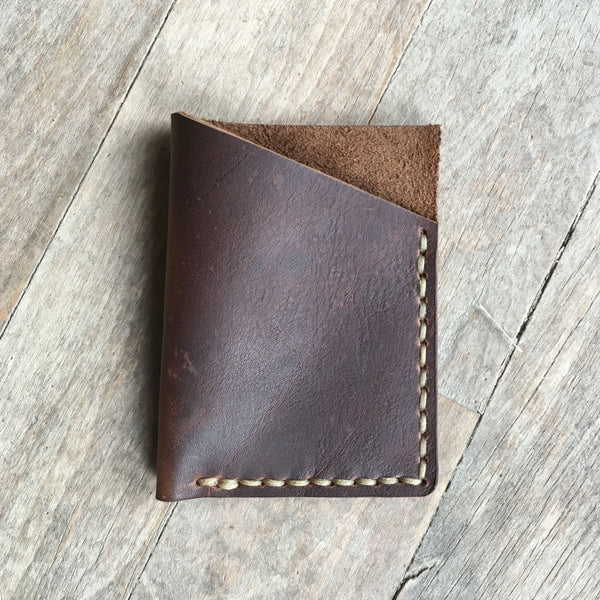 William Rogue Leather Slim Card Wallet, Made in America