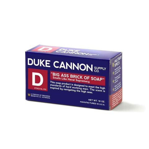 Duke Cannon Big Ass Brick of Soap Blue Bar, Made in USA