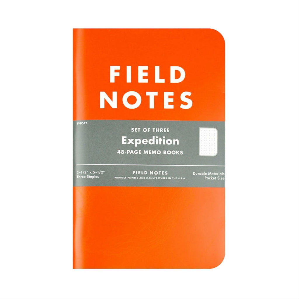 Field Notes Expedition Edition 3-Pack, Made in USA
