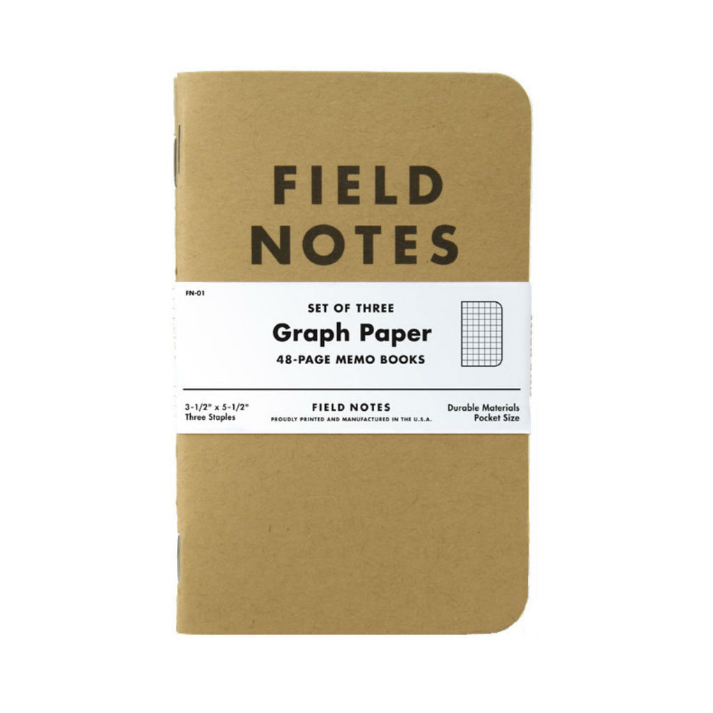 Field Notes Original Graph 3-Pack, Made in USA