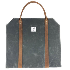 Waxed Canvas Log Carrier, Charcoal