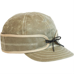 Stormy Kromer Waxed Cotton Cap Field Tan | Made in America