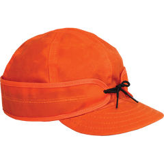 Stormy Kromer Waxed Cotton Cap Orange | Made in America
