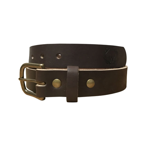 William Rogue All-Leather Outdoorsman Belt - Dark Brown