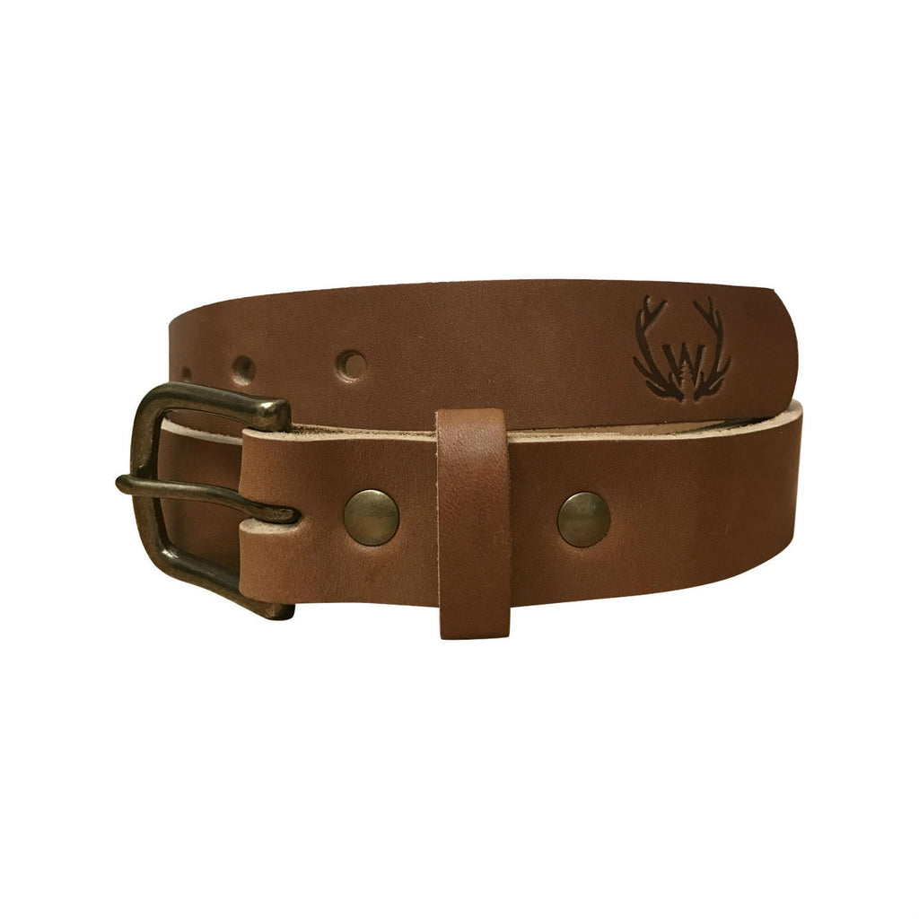 William Rogue All-Leather Outdoorsman Belt - Light Brown