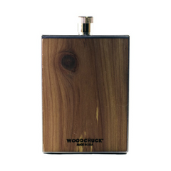 Stainless Steel & Wooden Flask | Made in America Back