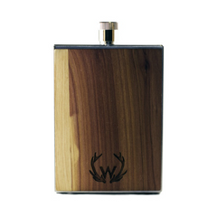 Stainless Steel & Wooden Flask | Made in America Front