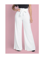 High Waist Paperbag Wide Leg Pants