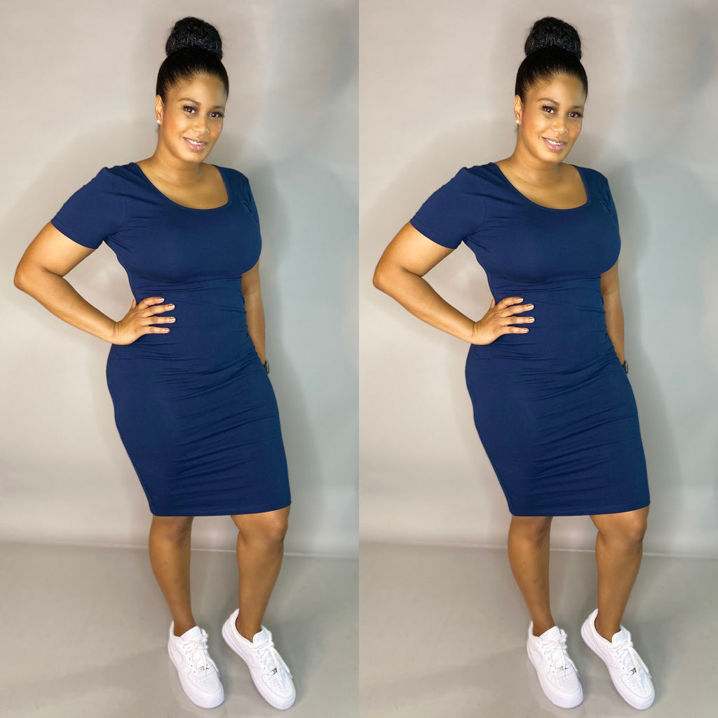 Keyion Tee Dress (Navy)