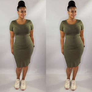 Keyion Dress (Olive)