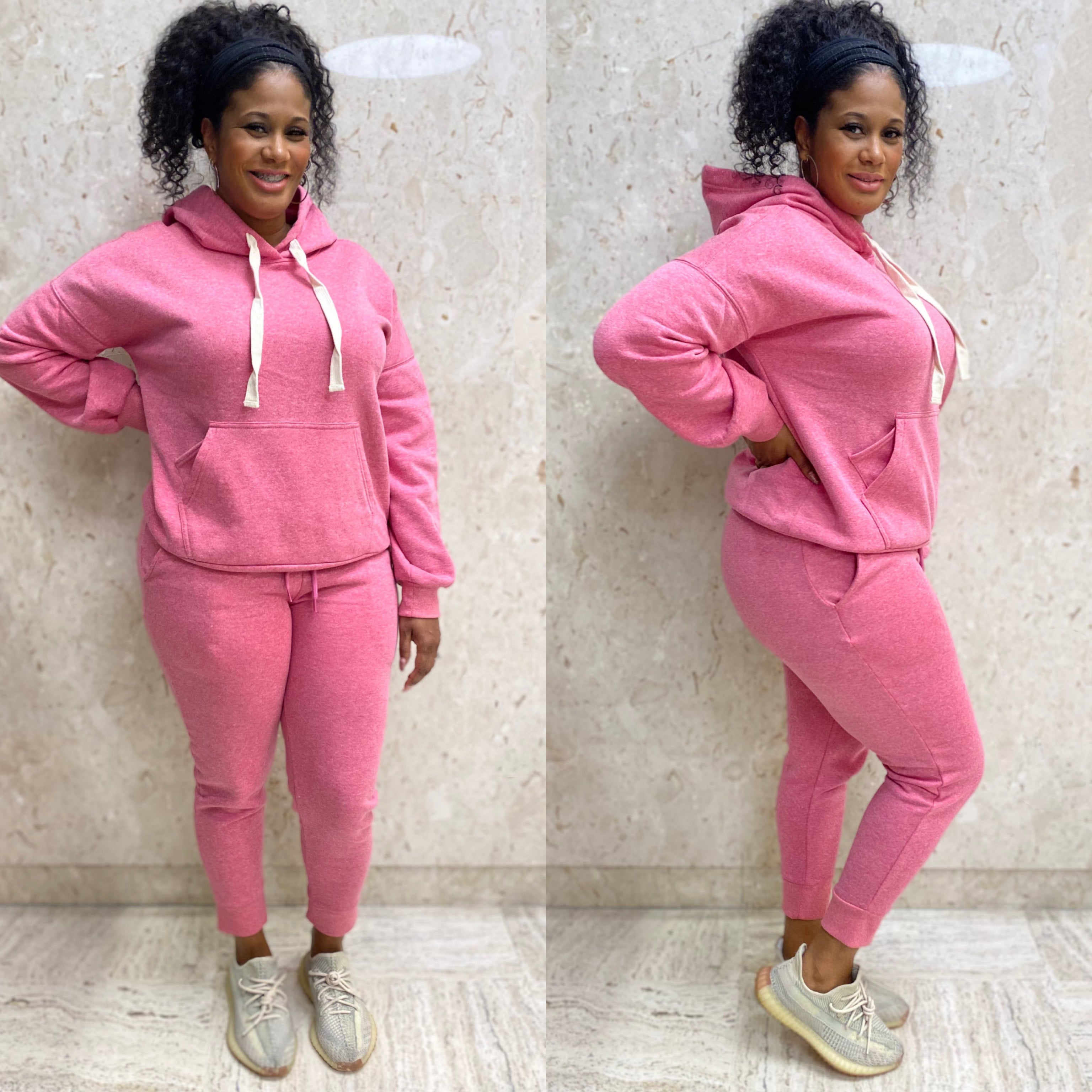 Essential 2pc Jogger Set (Pink)