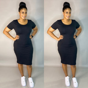 Keyion Tee Dress (Black)