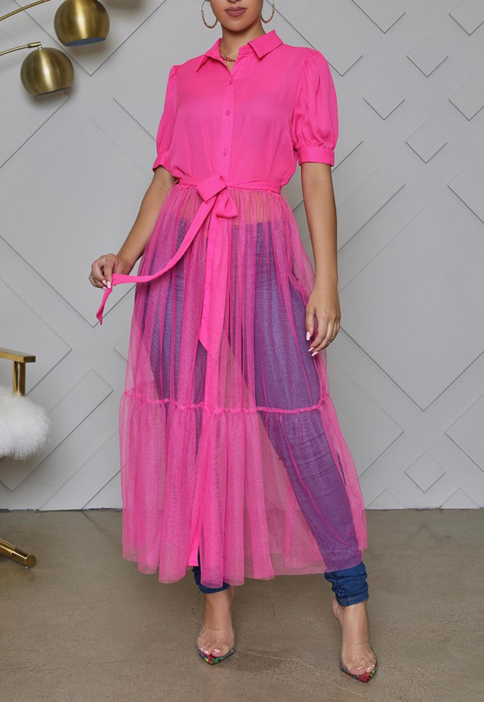 Pink Tulle Shirt