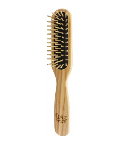 TEK Rectangular Hair Brush with Wooden Pins