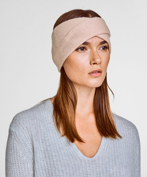 Cashmere Crossover Headband - Blush Heather