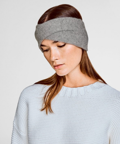 Cashmere Crossover Headband - Grey