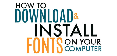 How to Download and Install Fonts from So Fontsy onto Your Computer